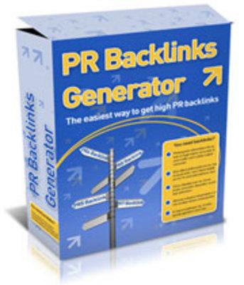 Product picture PR Backlinks Generator.zip