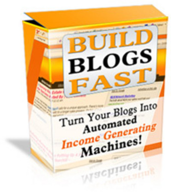 Product picture Build Blogs Fast