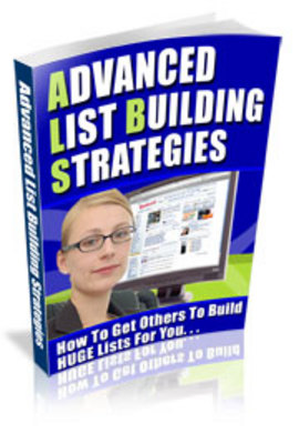 Product picture Advanced List Building Strategies